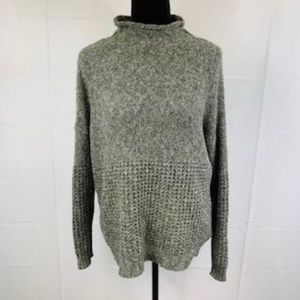 American Eagle Gray Mock Turtleneck Sweater